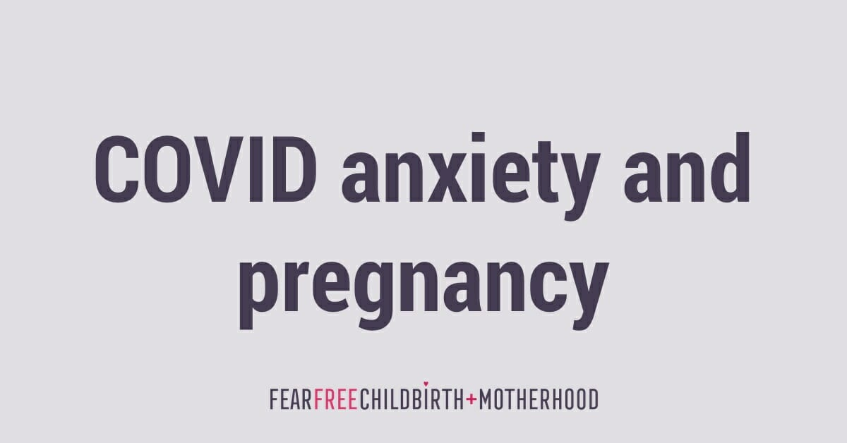 covid anxiety and pregnancy