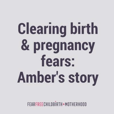 Clearing fears. Amber's story